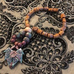51c3eda689 Jewelry - Handmade papyo necklace ( louvre Acc)
